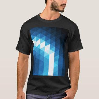 T-shirt rougeoyant de motif de triangle