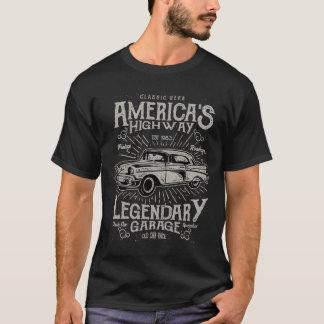T-shirt Route de la voiture | Hotrod américain classique