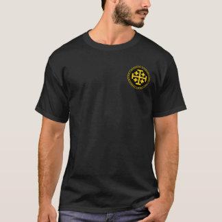 T-shirt Royaume de noir de Jérusalem et de chemise de