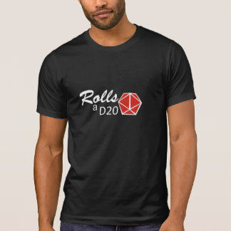 T-shirt RPG - Rolls à D20