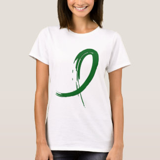 T-shirt Ruban A4 du vert vert de l'affection hépatique