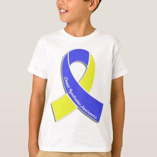 T-shirt Ruban de conscience de syndrome de Down