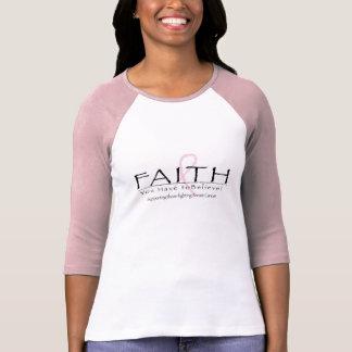 T-shirt Ruban de foi de cancer du sein