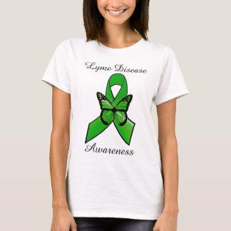 T-shirt Ruban de la maladie de Lyme avec la chemise de