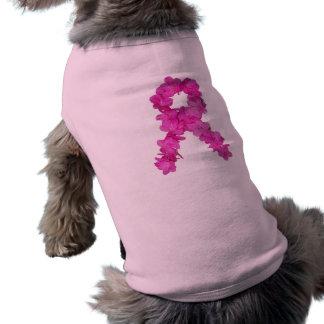 T-shirt Ruban rose de conscience de cancer du sein de fleu