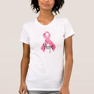 T-shirt Ruban rose peint