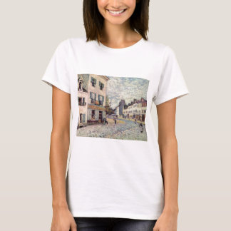 T-shirt Rue dans marneux par Alfred Sisley