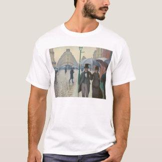 T-shirt Rue De Paris Temps de Pluie par Gustave