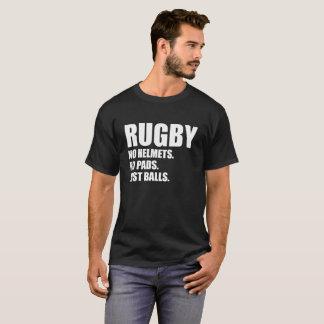 T-shirt Rugby aucuns casques aucunes boules de protections