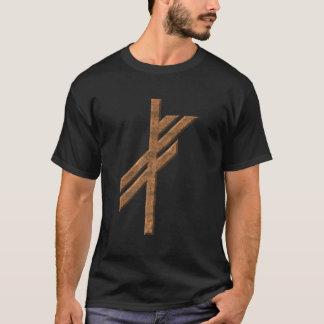 T-shirt Rune de Viking - chance - rouille