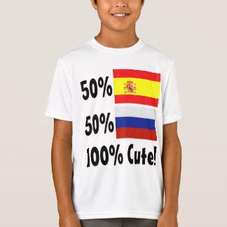 T-Shirt Russe de l'Espagnol 50% de 50% 100% mignon