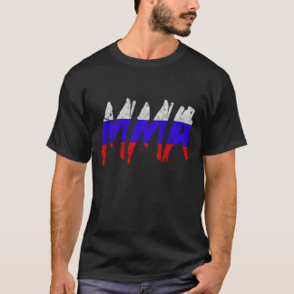 T-shirt russe de MIXED MARTIAL ART de drapeau