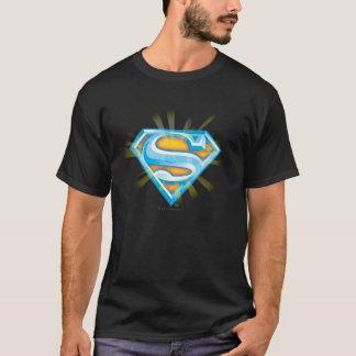 T-shirt S-Bouclier logo bleu et orange de | de Superman