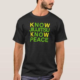 T-shirt Sachez que Jiujitsu savent la paix