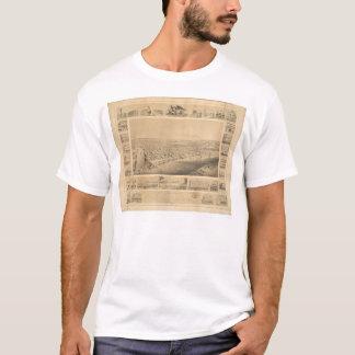 T-shirt Sacramento, carte panoramique 1857 (0066A) de CA