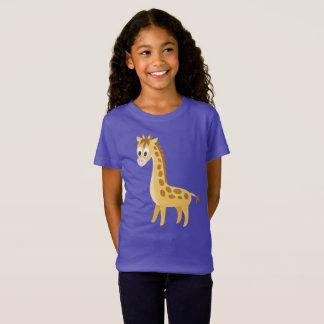 T-Shirt Safari mignon d'Africain de girafe de bande