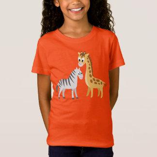 T-Shirt Safari mignon d'Africain de girafe et de zèbre de