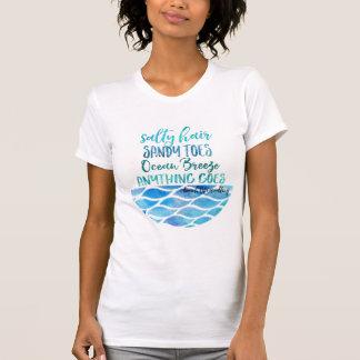 T-shirt salé de citation de plage d'océan