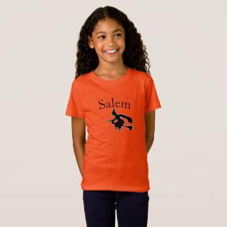 T-Shirt Salem de petite fille/T-shirt de Halloween