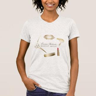T-shirt Salon de beauté moderne de coiffeur de maquilleur