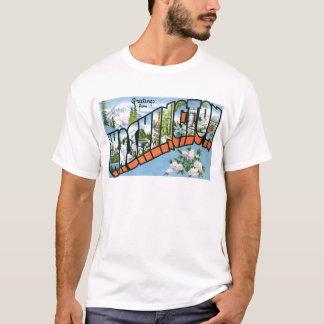 T-shirt Salutations de l'état de Washington ! Carte