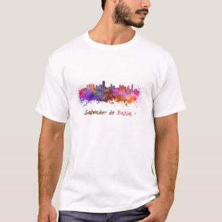 T-shirt Salvador de Bahia skyline in watercolor