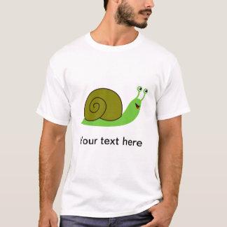T-shirt Sammy l'escargot de jardin vert
