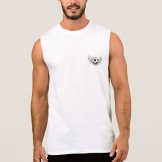 T-shirt sans manche du coton des hommes (YouTube