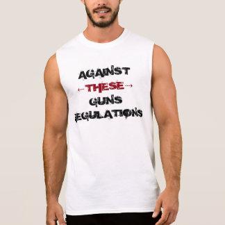 T-shirt Sans Manches Against these guns regulations