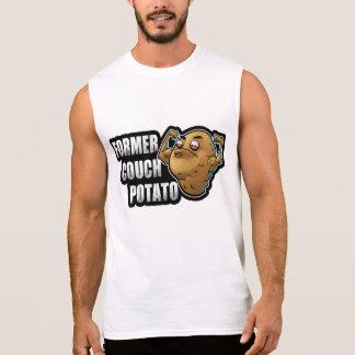 T-shirt Sans Manches Anciens exercice de téléphage/conception de forme