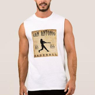 T-shirt Sans Manches Base-ball 1884 de San Antonio le Texas