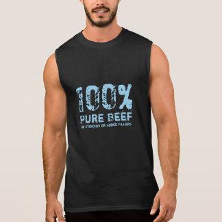 T-shirt Sans Manches Boeuf pur de 100% aucuns stéroïdes