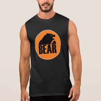 T-shirt Sans Manches Cercle orange d'ours de H S (noir)