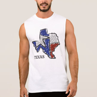 T-shirt Sans Manches Chemise d'état du TEXAS