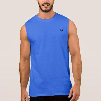 T-shirt Sans Manches Conception noire sans manche du GOATEST des hommes