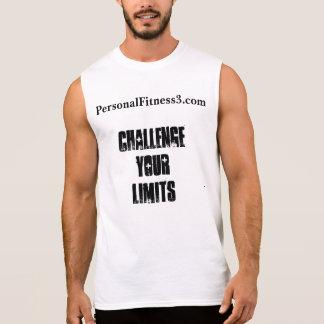 T-shirt Sans Manches Contestez votre chemise sans manche de limites