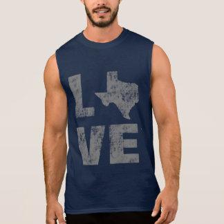 T-shirt Sans Manches Cool affligé pour l'amour du Texas