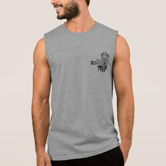 T-shirt Sans Manches Demi de réservoir sans manche croisé gothique de