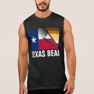 T-shirt Sans Manches Drapeau de fierté d'ours du Texas (dos blanc de