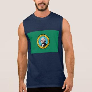 T-shirt Sans Manches Drapeau de Washington