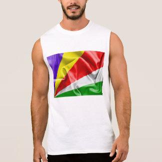 T-shirt Sans Manches Drapeau des Seychelles