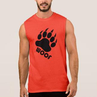 T-shirt Sans Manches Griffe de fierté d'ours de Woof (noir)