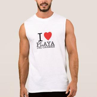 T-shirt Sans Manches I love Playa del Carmen Non Sleeves Shirt