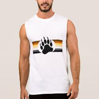 T-shirt Sans Manches La fierté gaie d'ours colore les rayures et la