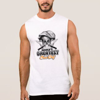 T-shirt Sans Manches Le plus grand chef v6 de Sous du monde