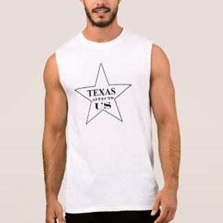 T-shirt Sans Manches Le TEXAS AFFECTE des hommes des USA