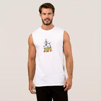 T-shirt Sans Manches Les bonhommes vont pour lui tapis roulant sans