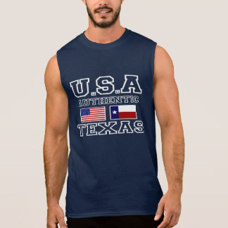T-shirt Sans Manches Les Etats-Unis et le Texas authentiques