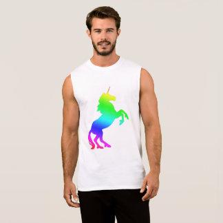 T-shirt Sans Manches Licorne d'arc-en-ciel