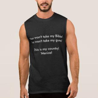 T-shirt Sans Manches Ma bible ma chemise d'armes à feu